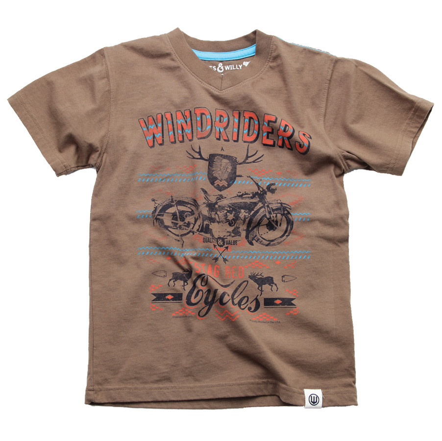 Wes and Willy Windrider V-Neck Tee