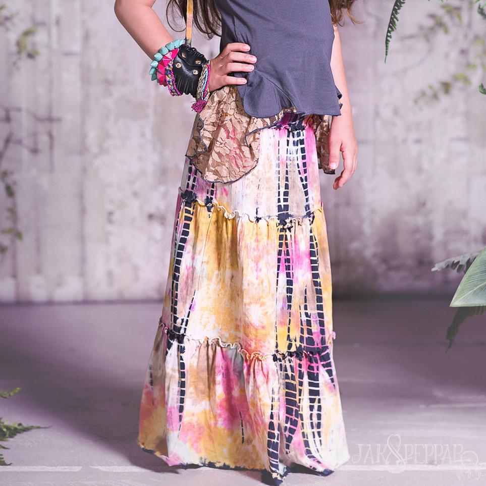 Jak & Peppar Woodstock Tie Dye Maxi Skirt
